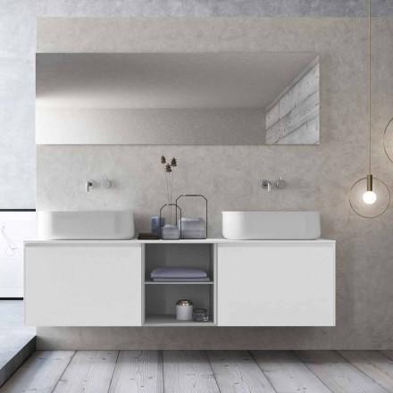 Nowoczesna zawieszona kompozycja łazienkowa Made in Italy - Callisi14