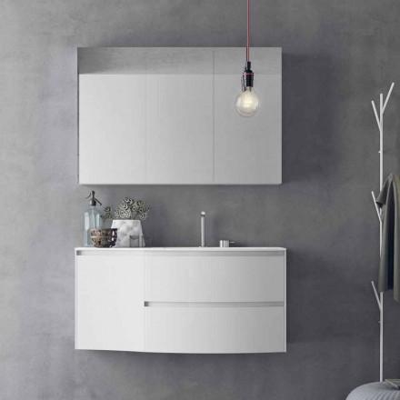 Nowoczesna i podwieszana kompozycja łazienkowa Made in Italy Design - Callisi7