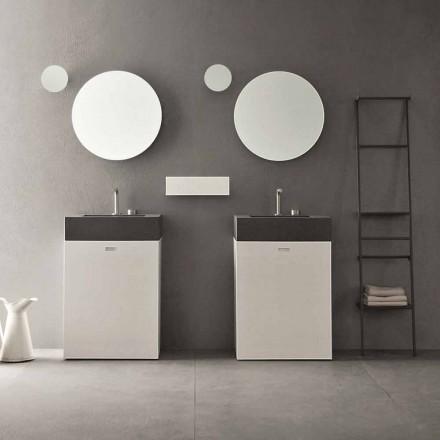 Kompozycja podłogowa nowoczesnych mebli łazienkowych - Farart10