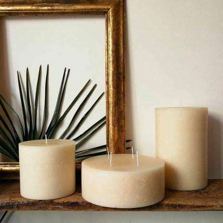 Kompozycja 3 nowoczesnych okrągłych świec woskowych Made in Italy - Candie
