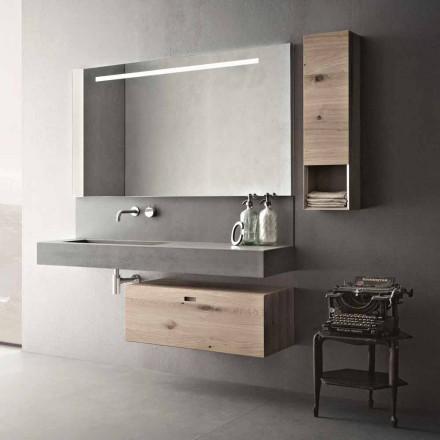 Kompozycja projektowa do łazienki Nowoczesne meble podwieszane Made in Italy - Farart2