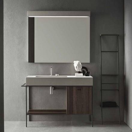 Kompozycja ręcznie wykonanych mebli do nowoczesnej łazienki na ziemi - Farart3