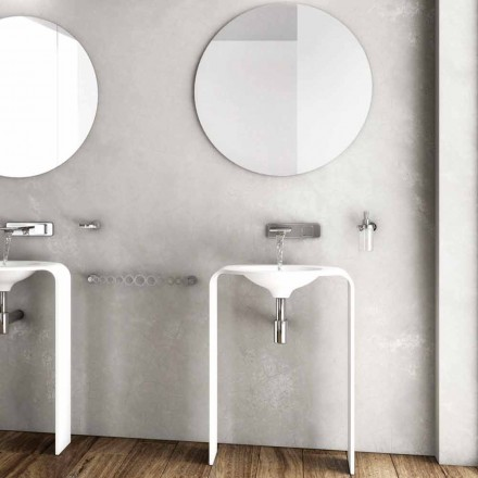 Nowoczesna kompozycja mebli podłogowych w łazience wykonana we Włoszech w Sienie