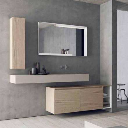 Nowoczesna i podwieszana kompozycja mebli łazienkowych, wyprodukowana we Włoszech Design - Callisi1