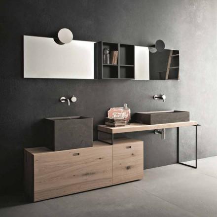 Nowoczesna kompozycja łazienkowa mebli naziemnych Made in Italy - Farart6