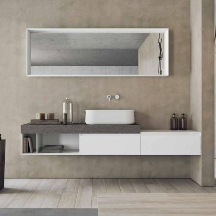 Nowoczesna i podwieszana kompozycja designerskich mebli łazienkowych - Callisi2