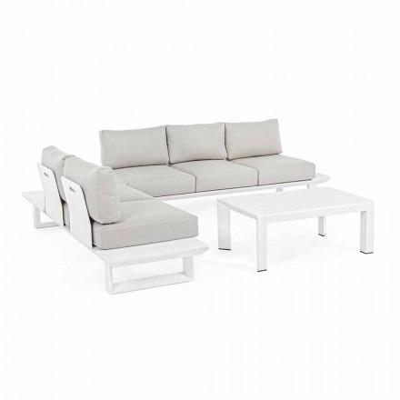 Kompozycja salonu na zewnątrz z aluminium i tkaniny, Homemotion - Francine