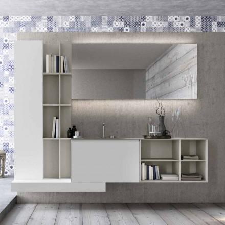 Zawieszona kompozycja mebli łazienkowych o nowoczesnym designie Made in Italy - Callisi15