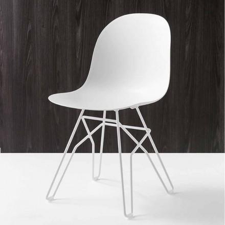 Connubia Calligaris Academy krzesło design Made in Italy, 2 szt