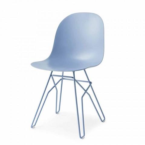 Connubia Akademia Calligaris krzesło nowoczesny projekt wykonany we Włoszech, 2 szt