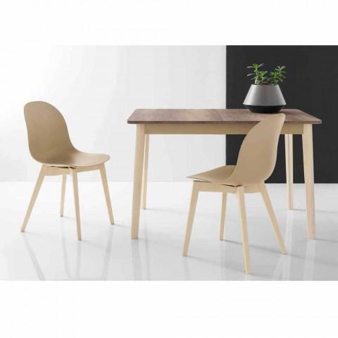 Connubia Calligaris krzesło Akademia podstawowa konstrukcja w drewnie, 2 szt