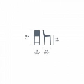 Connubia Akademia Calligaris wysoki stołek rocznik skóry, 2 szt