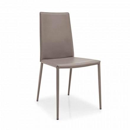 Connubia Calligaris Boheme krzesło  z skóry i metalu, 2 szt