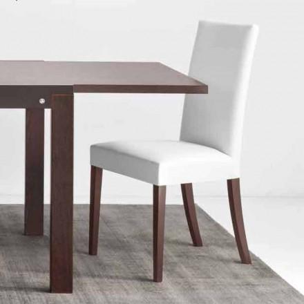 Connubia Calligaris Copenhagen krzesło ze ekoskóry i drewna, 2 szt