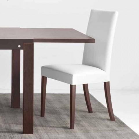 Connubia Kopenhaga Calligaris krzesło w faux skóry i drewna, 2 szt