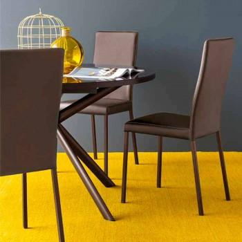 Connubia Calligaris Garda nowoczesne krzesło tkaniną i metalu, 2 kawałki