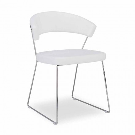 Connubia Calligaris New York krzesło skórzane design, 2 szt