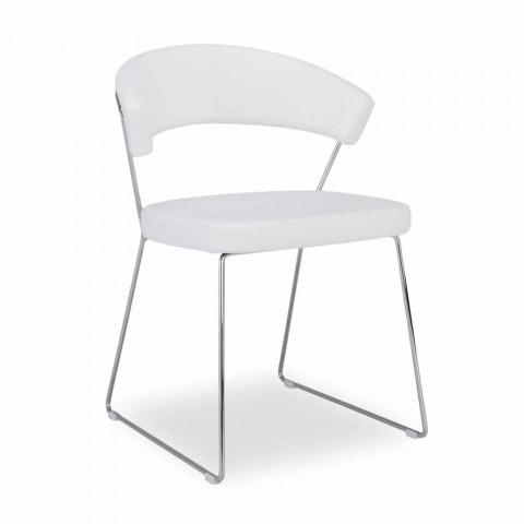 Connubia New York Calligaris krzesło w nowoczesnym skóry projektowej, 2 szt