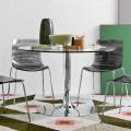Connubia Calligaris Planet stół szklany o średnicy 120cm design