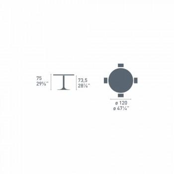 Connubia Calligaris planeta okrągłego stołu Nowoczesne średnica 120 cm, szkło