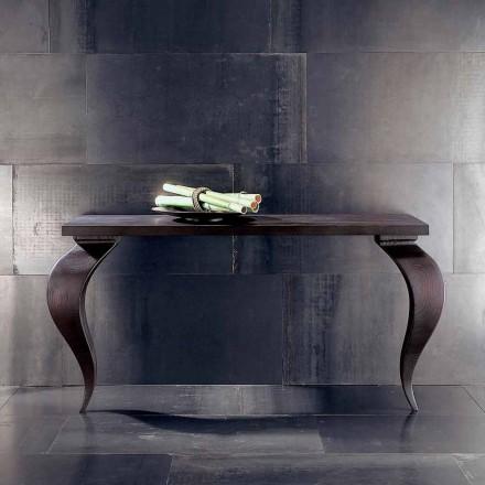 Konsola luksusowana  design z litego drewna Tino, 150x50cm