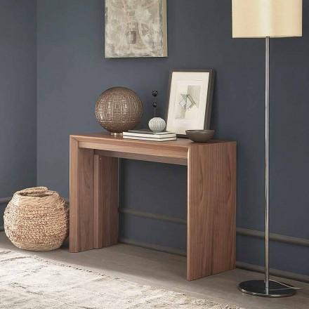 Wysuwana konsola stołowa do 295 cm z drewna Made in Italy Design - Temocle