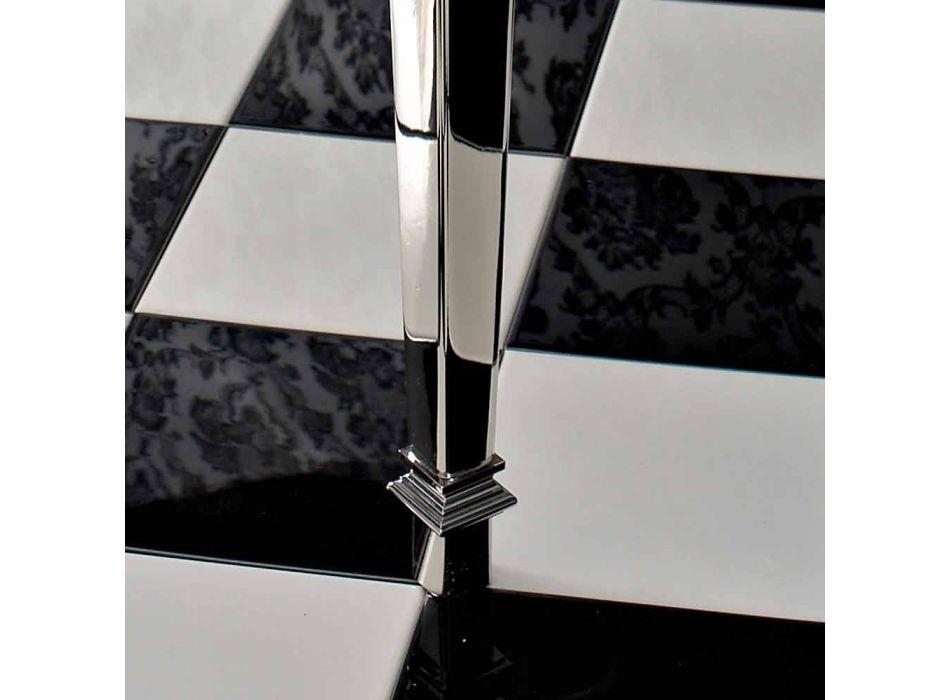 105 cm Biała ceramiczna konsola łazienkowa w stylu vintage ze stopami, wyprodukowana we Włoszech - Marwa