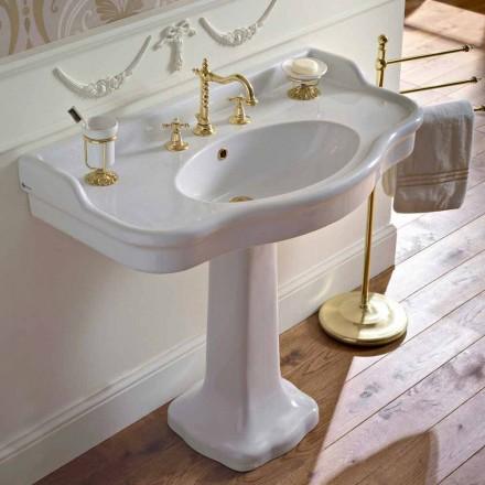 Klasyczna ceramiczna konsola łazienkowa na Colonna, wyprodukowana we Włoszech - Paulina