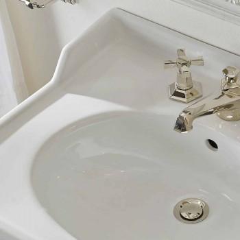 65 cm Ceramiczna konsola łazienkowa z metalowymi stopkami Made in Italy Nausica