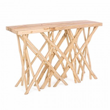 Konsola wejściowa z naturalnego drewna tekowego o eleganckim i nowoczesnym designie - Bilva