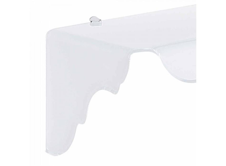 Biała konsola ścienna, biała, wykonana we Włoszech