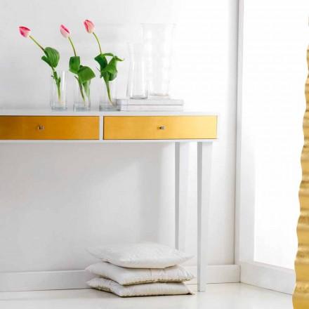 Konsola drewniana z szufladami Bell, nowoczesny design