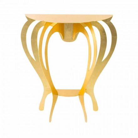 Konsola z kolorowego żelaza o nowoczesnym designie Made in Italy - Barbata