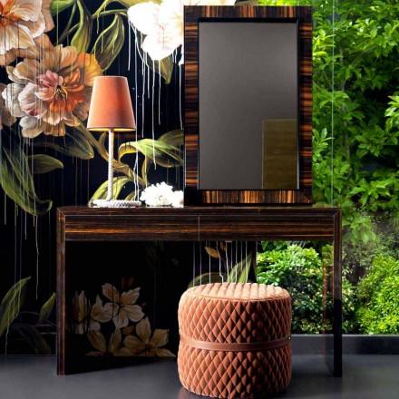 Konsola z drewna hebanu design Grilli Zarafa wykonana we włoszech