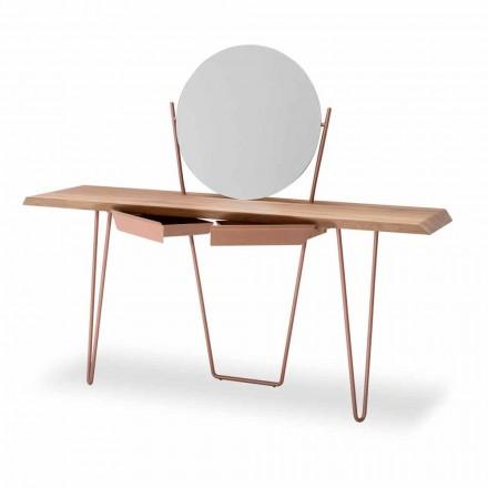 Nowoczesna drewniana i metalowa konsola Made in Italy - Coseno Plus