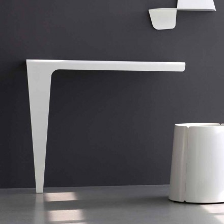 Nowoczesna konsola o minimalistycznym designie z kolorowego metalu Made in Italy - Benjamin