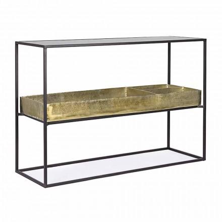 Konsola wzornictwa przemysłowego ze stali i szkła Homemotion - Malpensa