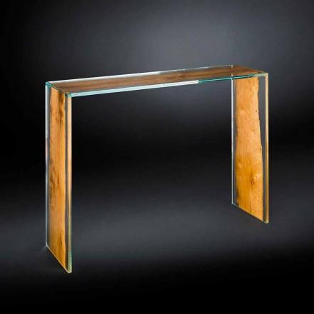 Konsola z drewna i szkła design Venezia Vgnewtrend