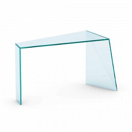 Nowoczesna konsola wejściowa ze szkła Extraclear Made in Italy - Rosalia