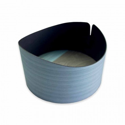 Nowoczesne okrągłe pudełko z prawdziwego drewna Made in Italy - Stan