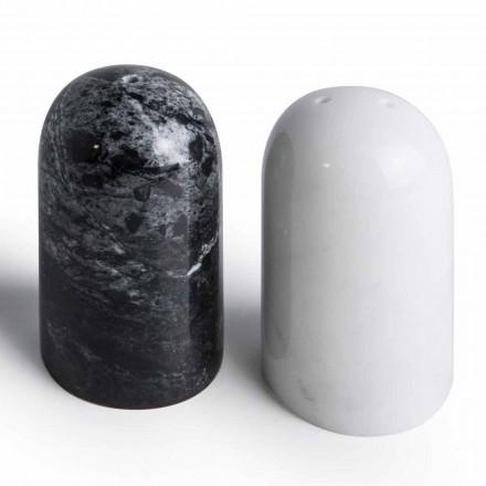 Pojemniki na sól i pieprz z marmuru z Carrary i Marquinia Wyprodukowano we Włoszech - Xino
