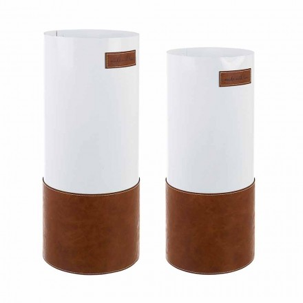 Para nowoczesnych stojaków na parasole ze stali i sztucznej skóry Homemotion - Umbro