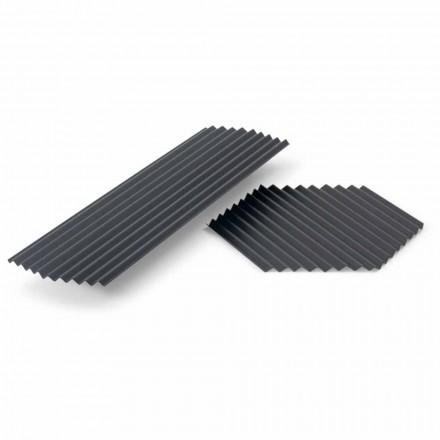 Para tac ze stali lakierowanej w kolorze czarnym lub złotym, nowoczesny design - Savona