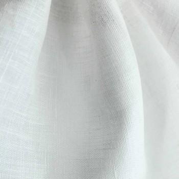 Podwójna, pojedyncza lub kwadratowa poszwa na kołdrę z białego lnu Made in Italy - Blessy