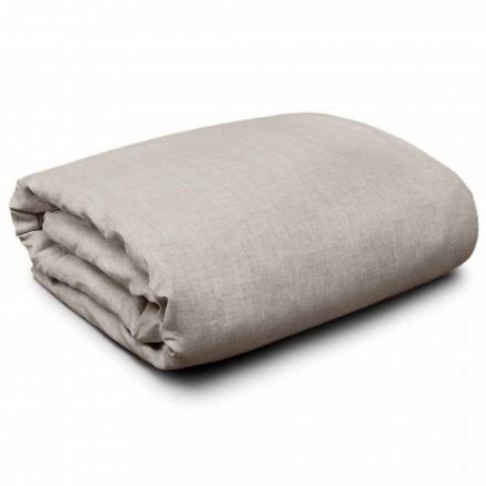 Poszwa na kołdrę z naturalnej lnu na łóżka king-size, pojedyncze i pełnowymiarowe Made in Italy - Blessy