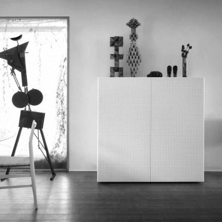 Kredens design z 2 szufladami biała, czarn lub złota model Flora