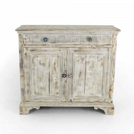 Kredens z litego drewna świerkowego z wewnętrznymi półkami Made in Italy - Pierrot