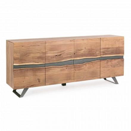 Kredens z drewna i malowanej stali Modern Design Homemotion - Silvia