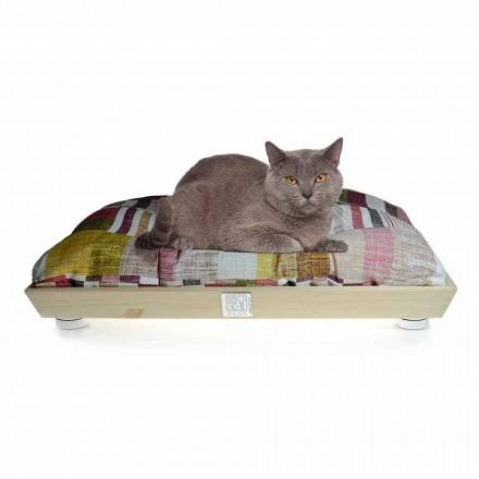 Hodowla psów i kotów z litego drewna z nadającą się do prania poduszką Made in Italy - Juma