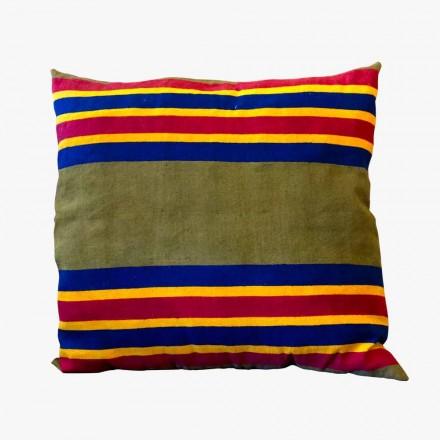 Artystyczna włoska poduszka rzemieślnicza Unikalny kawałek ręcznie malowany - Viadurini firmy Marchi